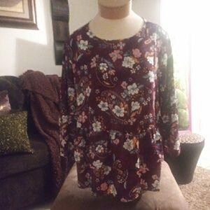 Flower multi color blouse